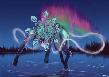 North Wind (Suicune redesign) by Clapiart