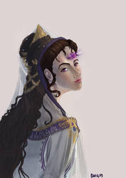 Three eyes lady - Portrait for by Clapiart