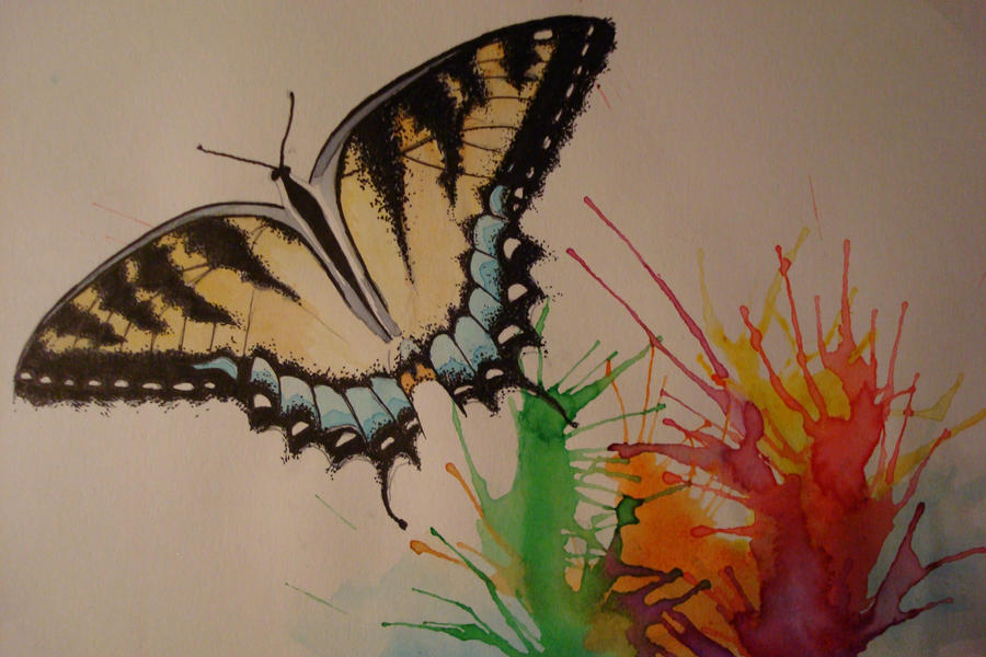 splashes of butterfly by darkpages