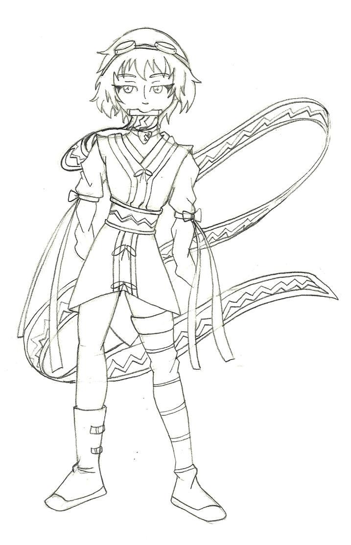 Rin Tezuka as Rita Mordio sketch by Only1TrueJony
