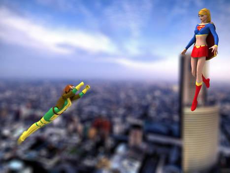 Rogue vs. Supergirl