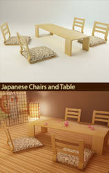 Japanese chairs and table