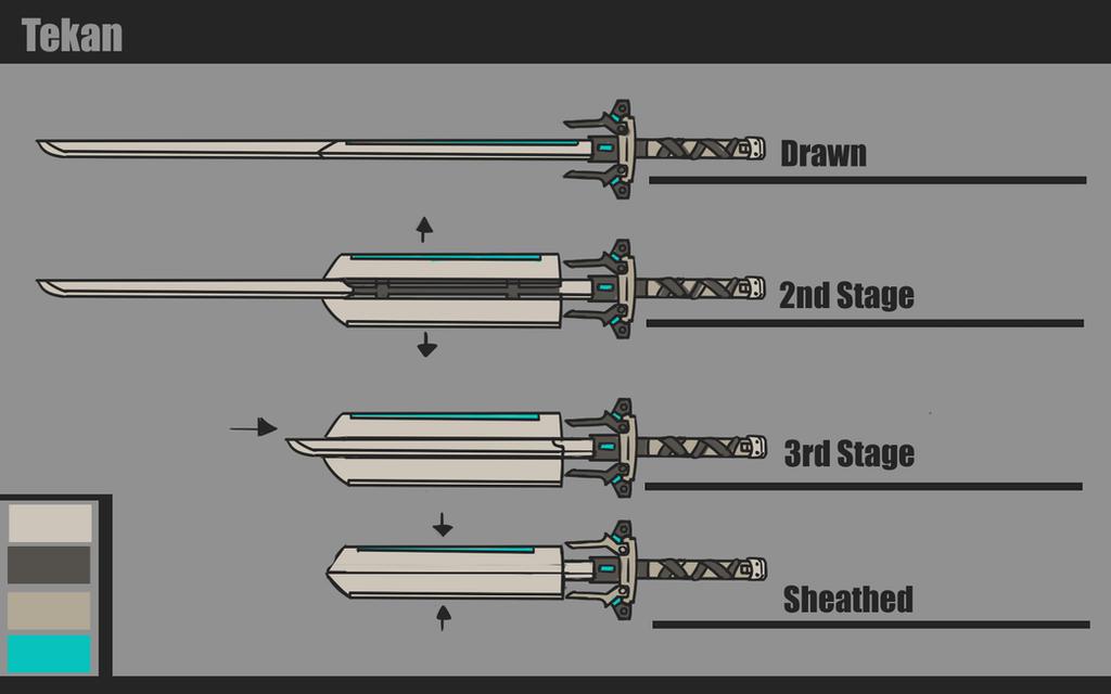Warframe Tekan Long Katana Concept By Blazingcobalt On