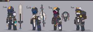 Spiral Knights [The Alpha Squad 2.0] by BlazingCobalt