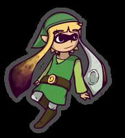 Splatoon x Zelda [L-Inkling] by BlazingCobalt