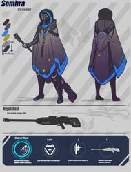 Overwatch [Not-Sombra Concept] by BlazingCobalt