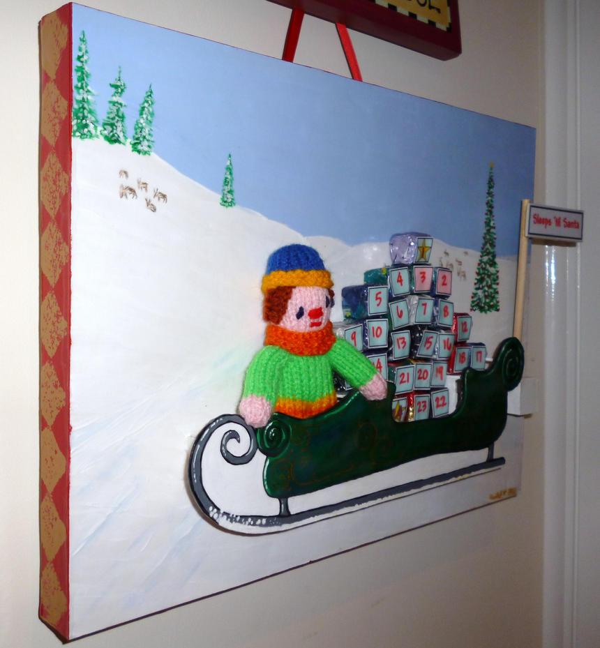 Advent Calendar Live Wallpaper : Advent calendar santa s sleigh by gothiquin on deviantart