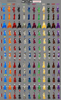 All The Canon God Tiers From Homestuck
