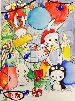 Festive bunnies
