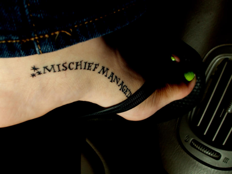 Mischief Managed Tattoo by rendezvouswithme