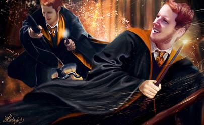 Weasley Twins [Digital Painting] by Katay