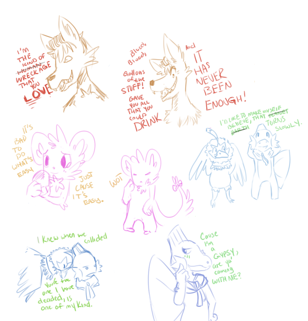 Sketcheseses by RascalWabbit