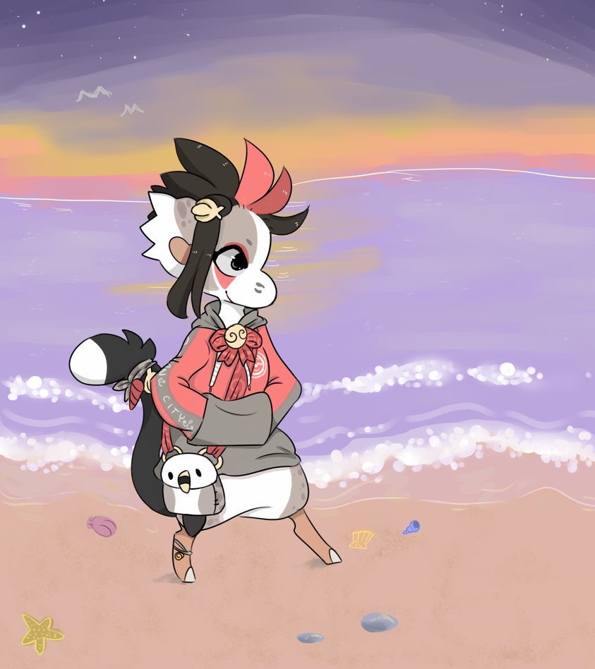 Nollie at the beach (Summer Fun Prompt) by RascalWabbit