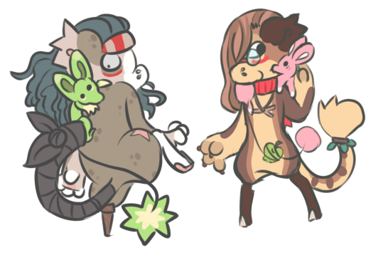 Vermin Fun - Tay and Kanga by RascalWabbit