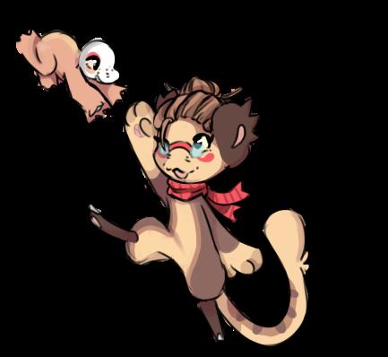 Kanga and Cropea by RascalWabbit