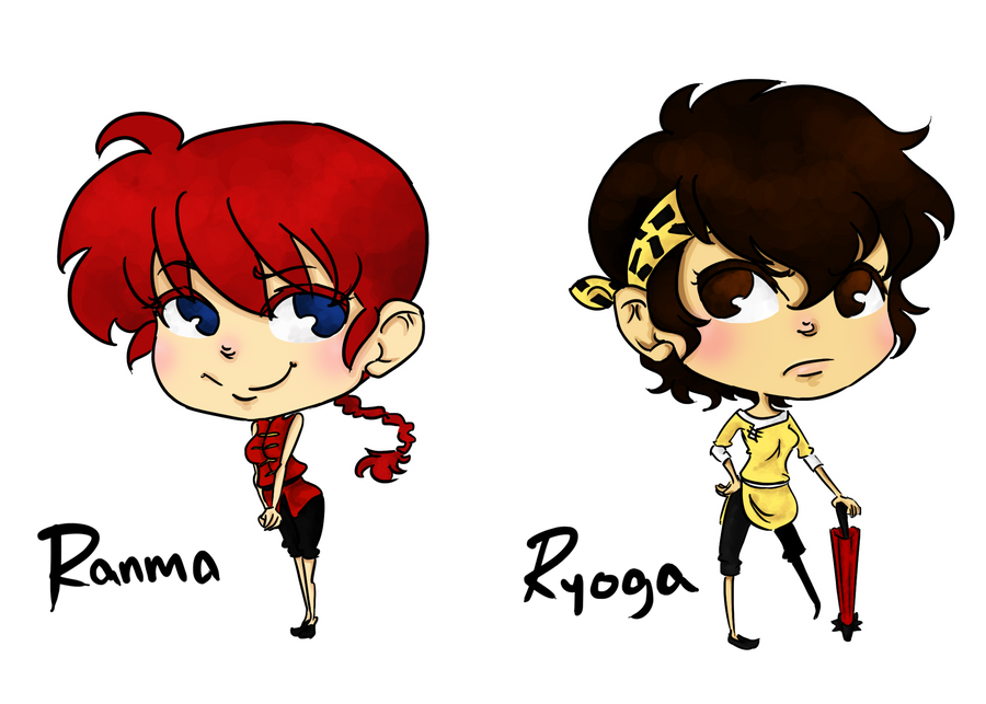 Female Ranma And Ryoga By Rosey So Silly