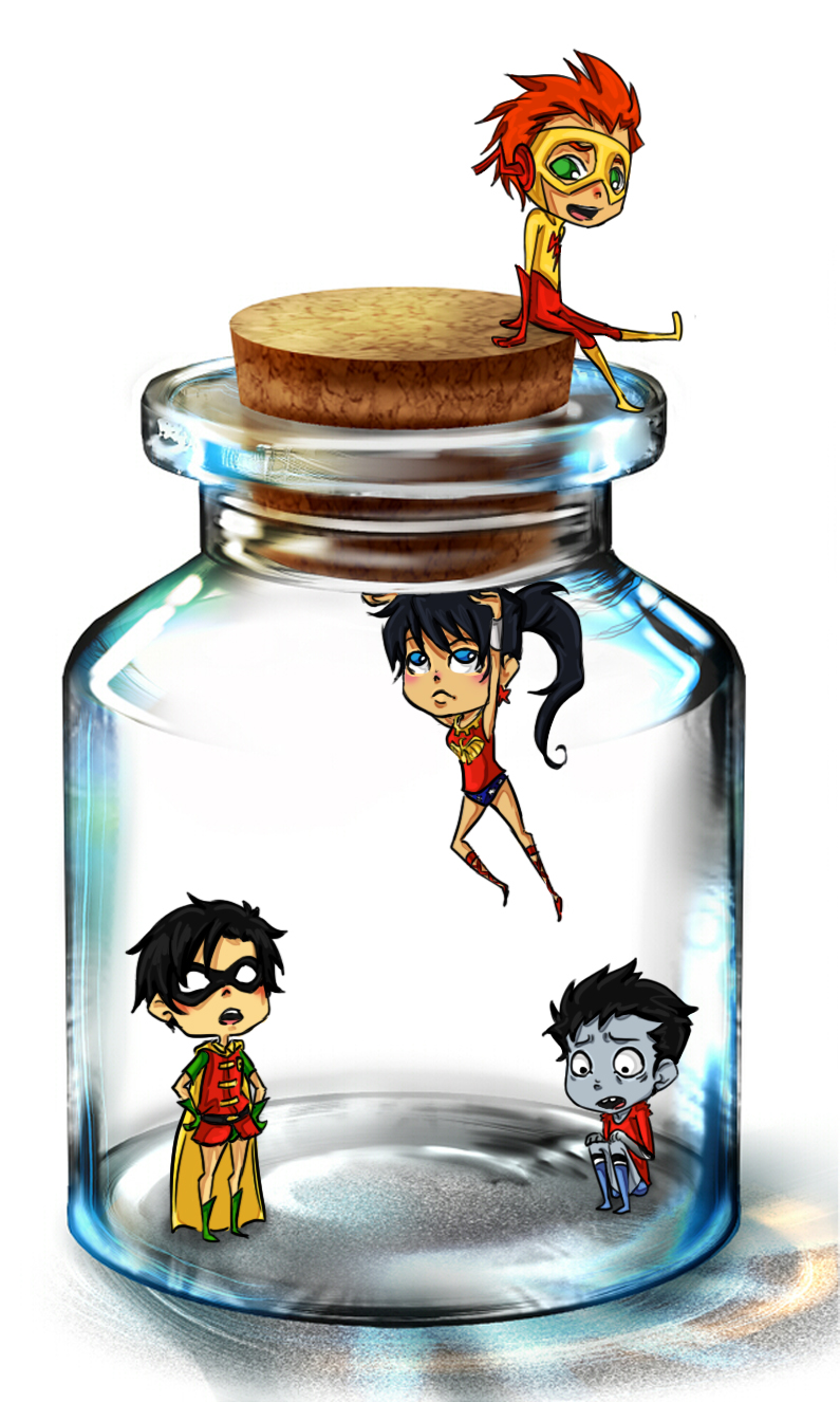 Pixiv Bottle Teen Titans by rosey-so-silly