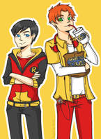 YJ- Robin and Kid Flash by rosey-so-silly