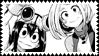 Stamp: Uraraka and Tsuyu (Boku No Hero Academia)