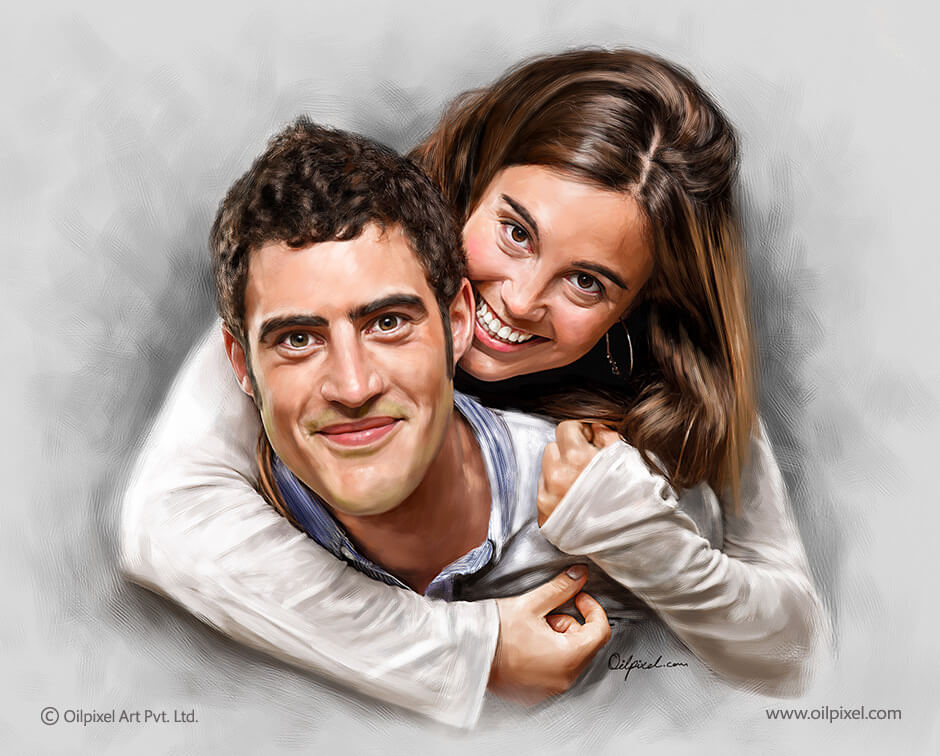 Couple Portrait Painting By Oilpixel By Oilpixel On Deviantart