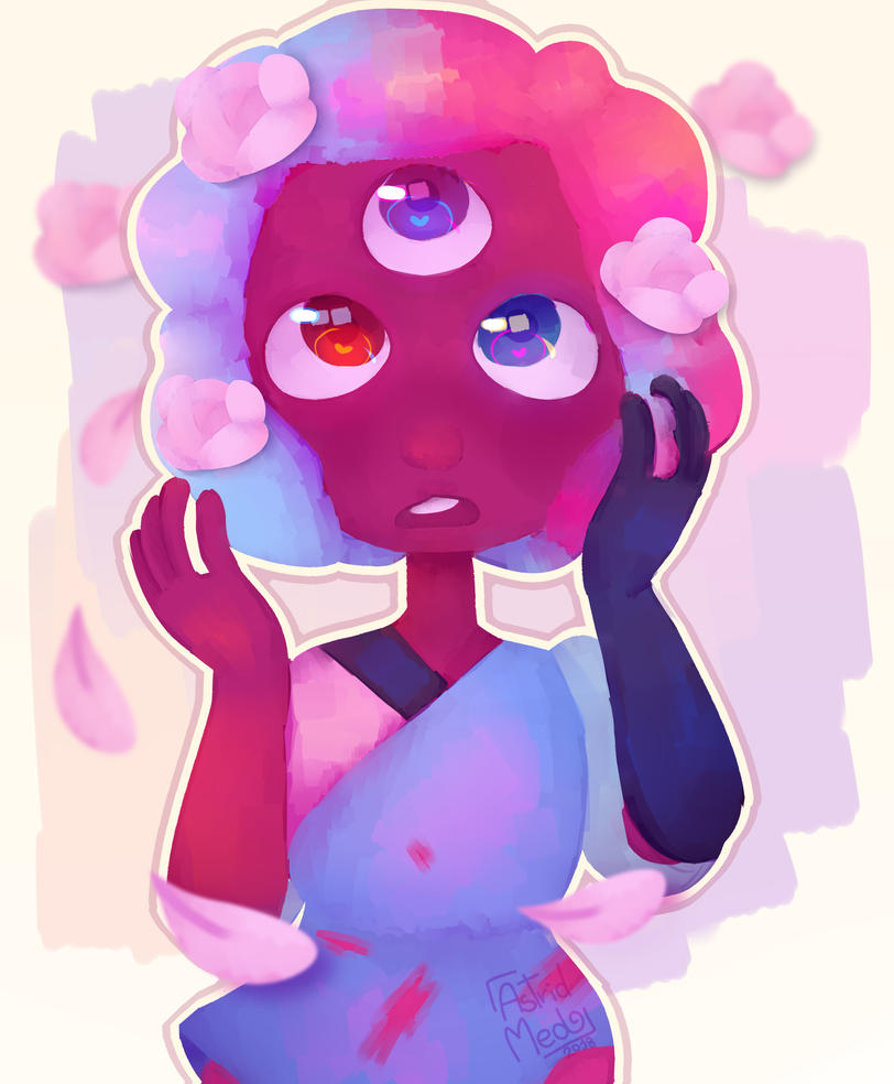 """I was someone and I didn't know who""   It's Garnet from Steven Universe"