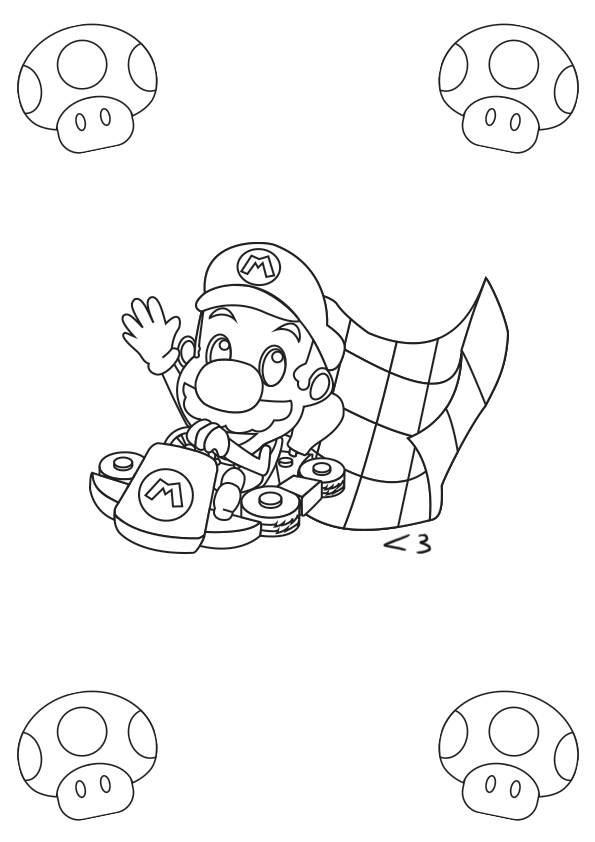 MarioKart Coloriage A4 by AntBlc