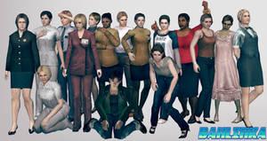 Resident Evil Outbreak Ladies by Bahlinka