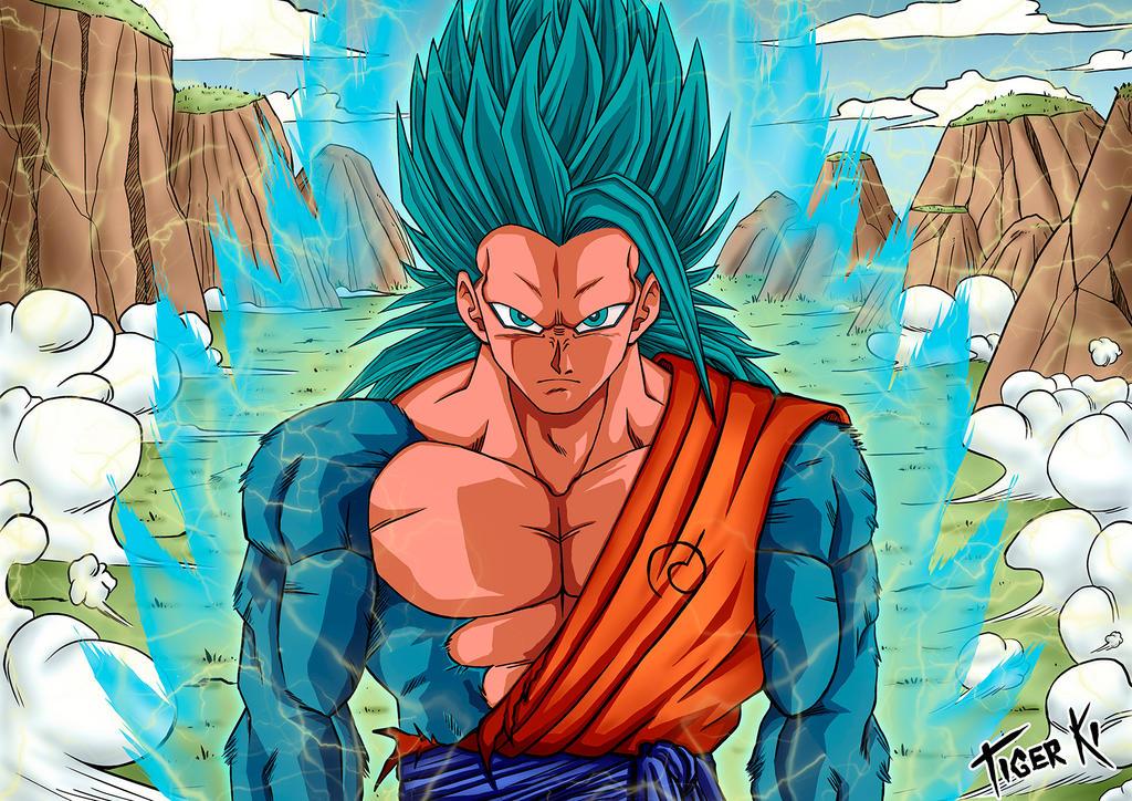 Goku Super Saiyan 5 Level God Blue By Tiger Ki