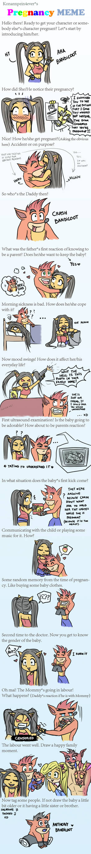 Pregnancy meme - Ara Bandicoot x Crash Bandicoot