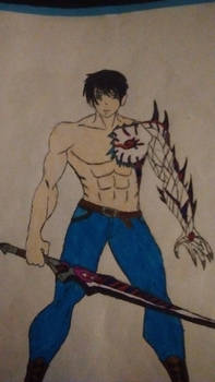 Half Demon Male with Cursed Blade