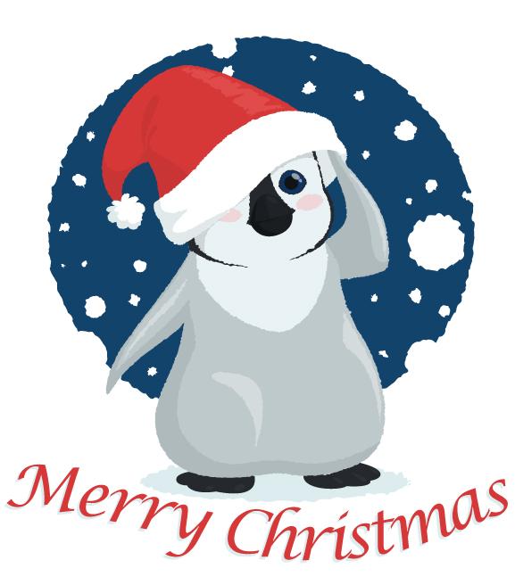 Christmas Penguin by *rebel-penguin on deviantARTchristmas penguin