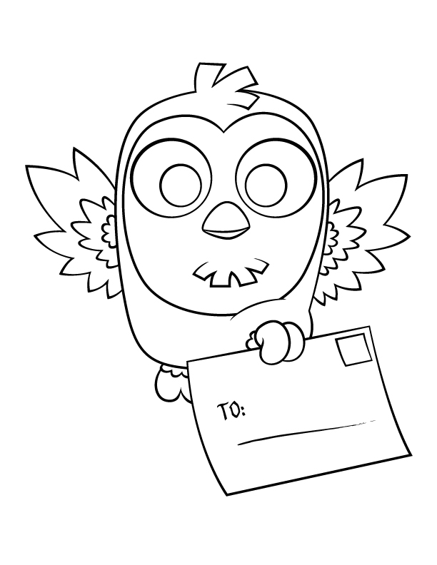owl coloring page by rebel penguin - Owl Color Page