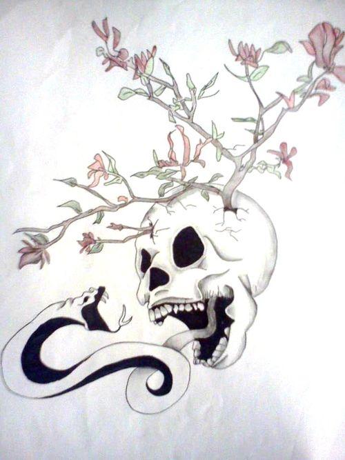 Flower Skull by just-asinine