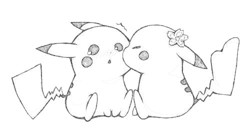 Pikachu Couple by Sperow23000 on DeviantArt