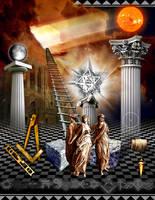 1st Degree Masonic Board by Masonictraveler