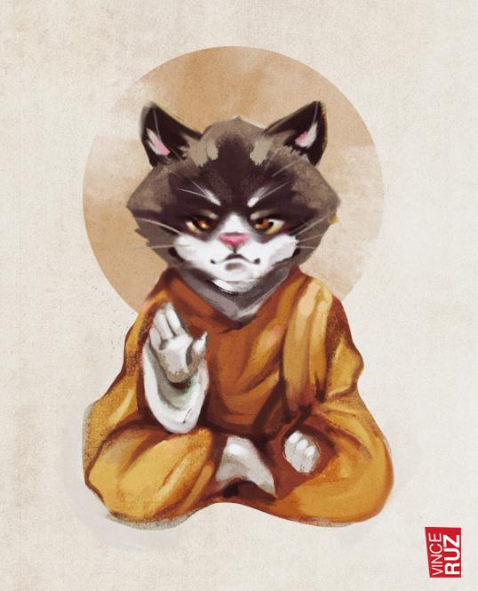 Enlightment Kitty by vinciruz