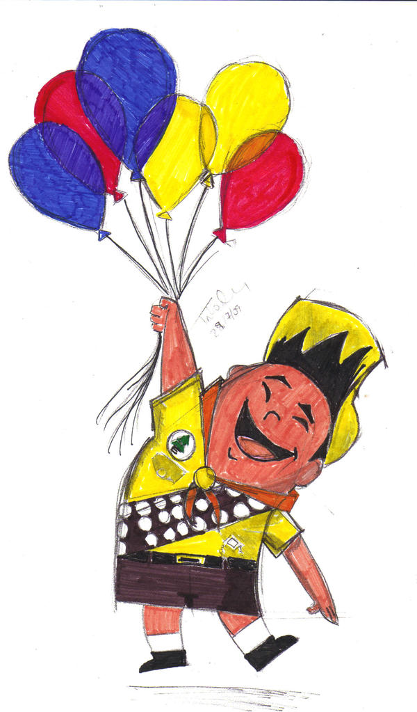 Russell Balloons Ink By CaptainPan