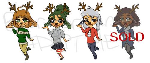 PRICE LOWERED Reindeer Adopts [3/4 OPEN] by burgerpantz