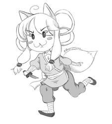 Megumi Screentone Chibi