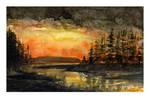 Mini watercolor: Heaven On Fire