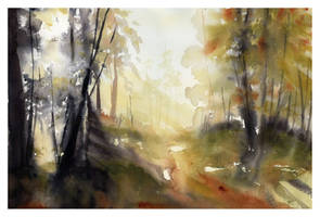 Shadows of Gold by SALTWatercolors