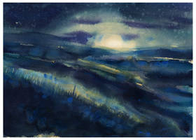 Moonglow by SALTWatercolors