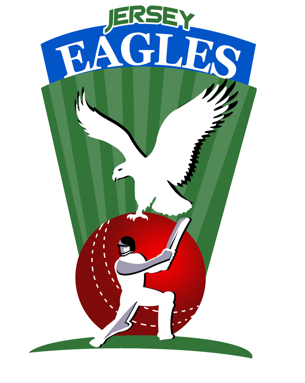 Logo Design for Cricket Team - Jersey Eagles by Dipti-13