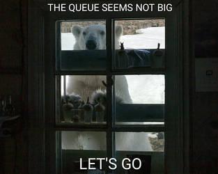 Mem Bear at window by CachorroSenhorTorrao