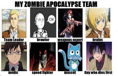 Anime Zombie Apocalypse Team Meme (V1) by RockitStorm