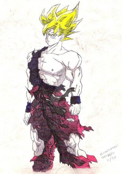 Goku con birome by Lexedur