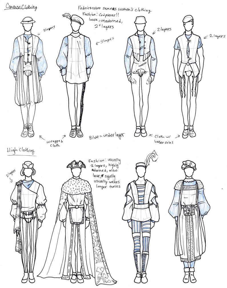 Medieval Styled Men's Clothing by TigerBomberX