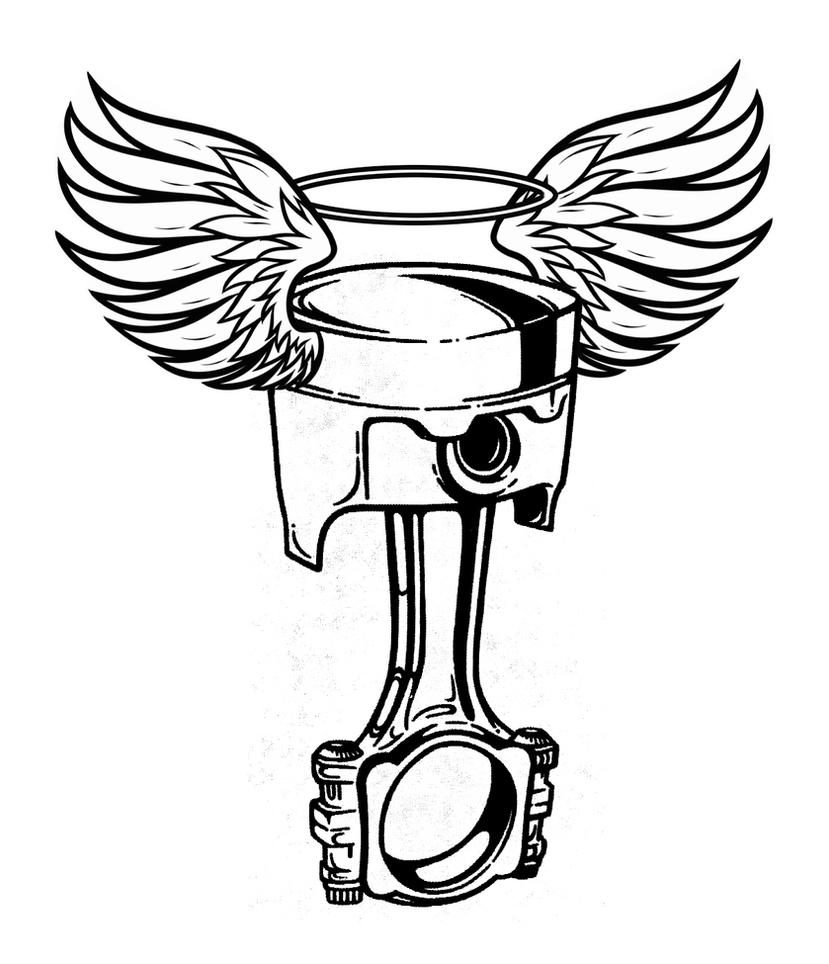 Crossed Pistons Drawing Piston Drawing Piston Art