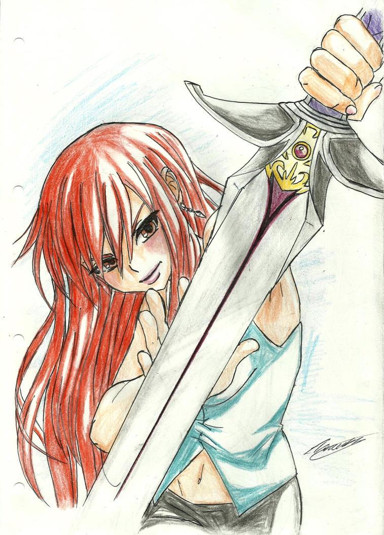 Erza Sword by MidnightlityDreams