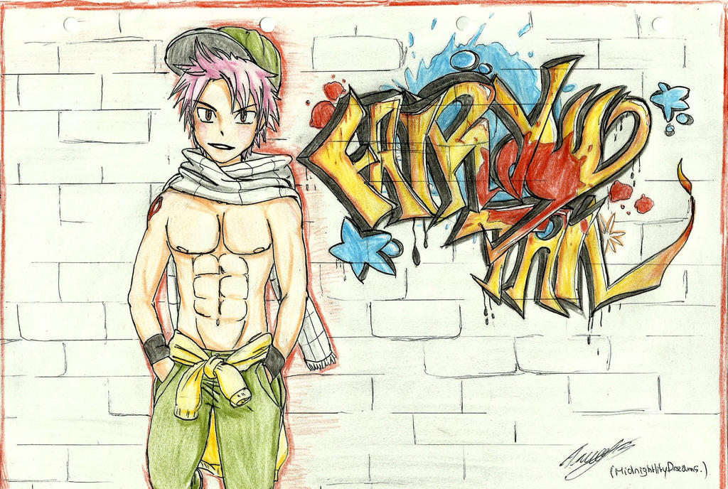 Fairy Street Art : Natsu by MidnightlityDreams